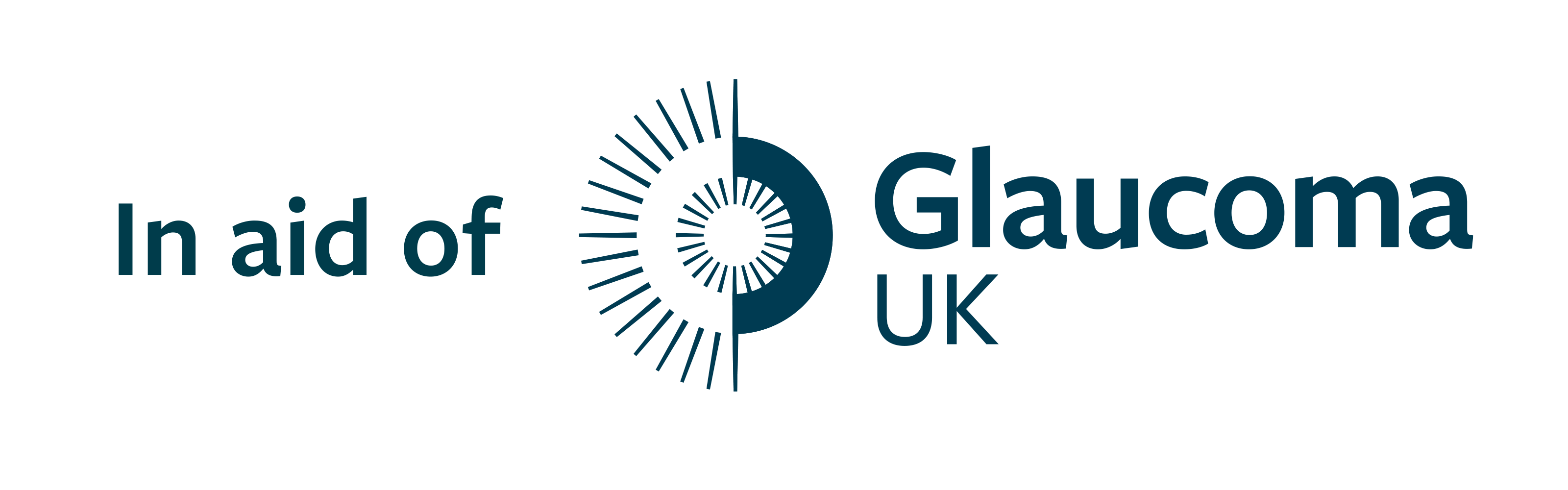 Logo - In Aid of Glaucoma UK - Blue