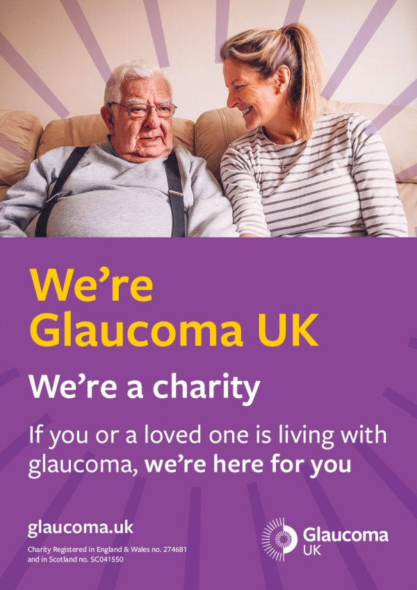 we're glaucoma UK, a glaucoma charity poster