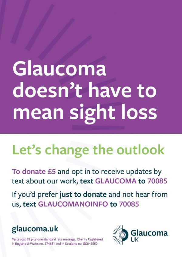 donate to glaucoma charity logo