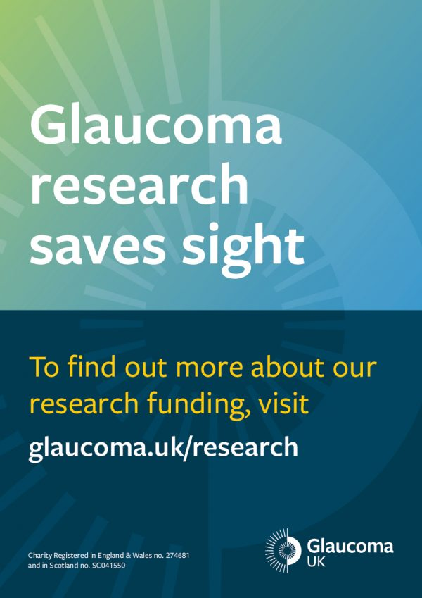 glaucoma research funding appeal poster