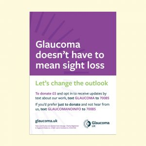 glaucoma doesn't have to mean sight loss poster