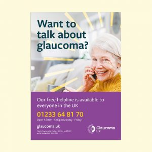 talking about glaucoma poster