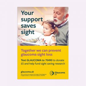 Your Support Saves Sight Poster