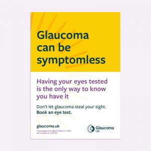 glaucoma can be symptomless poster