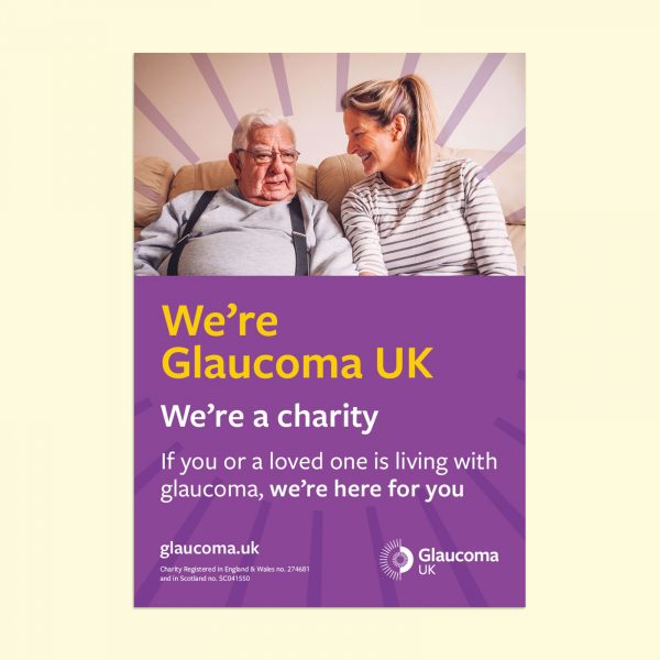 we're glaucoma uk poster