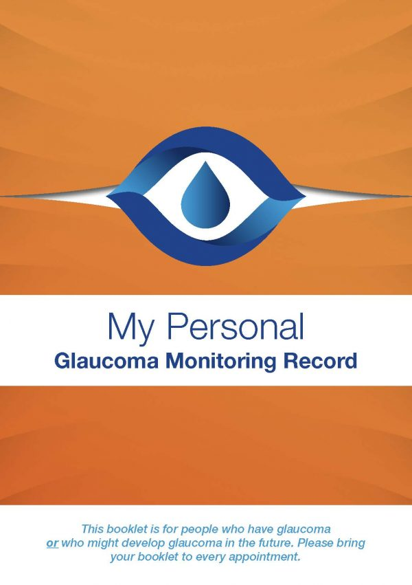 My Personal Glaucoma Monitoring Record Full Cover