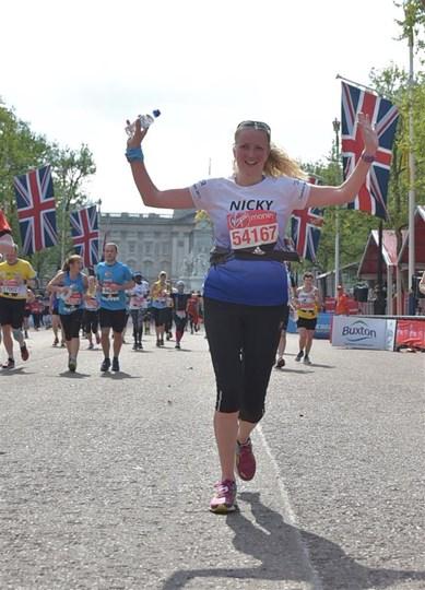 person running marathon