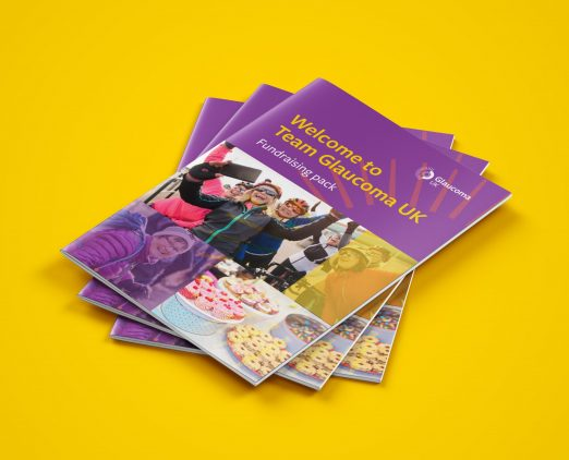 An image of the Glaucoma UK fundraising pack