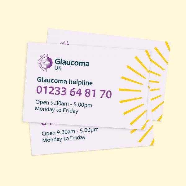 Glaucoma UK helpline cards