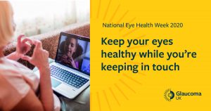 Image text: Keep your eyes healthy while you're keeping in touch