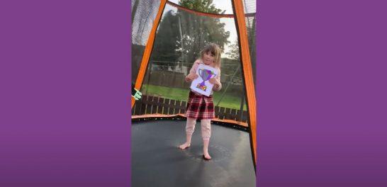 Scarlett on her trampoline