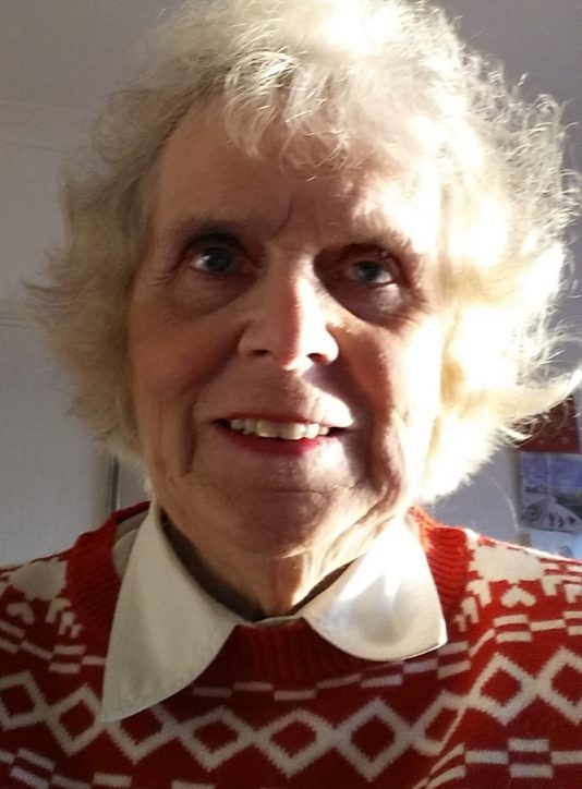 80 year old lady portrait