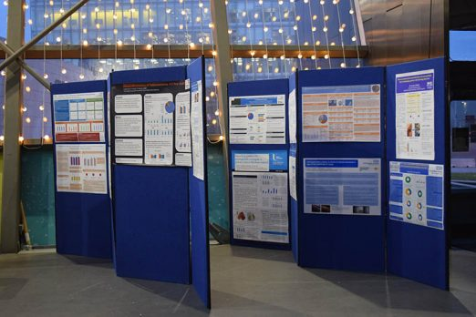 UKEGS poster submissions on blue boards